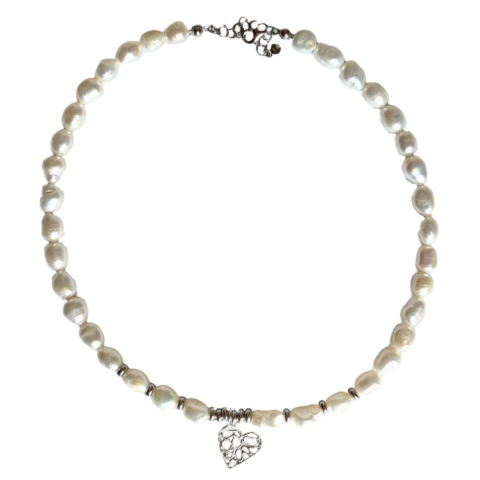 collana perle di fiume barocche